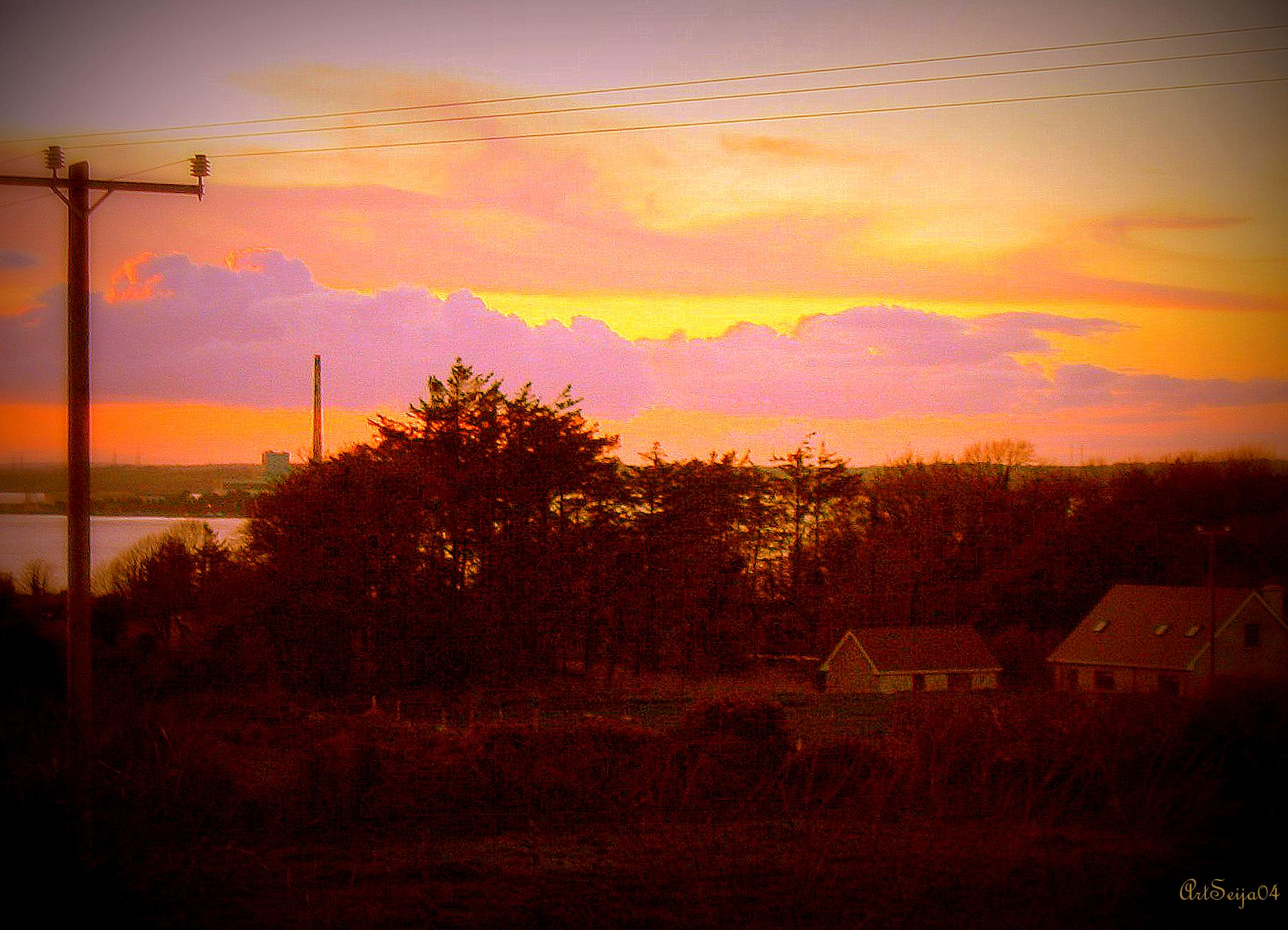 Auringonlasku: Galway, Irlanti