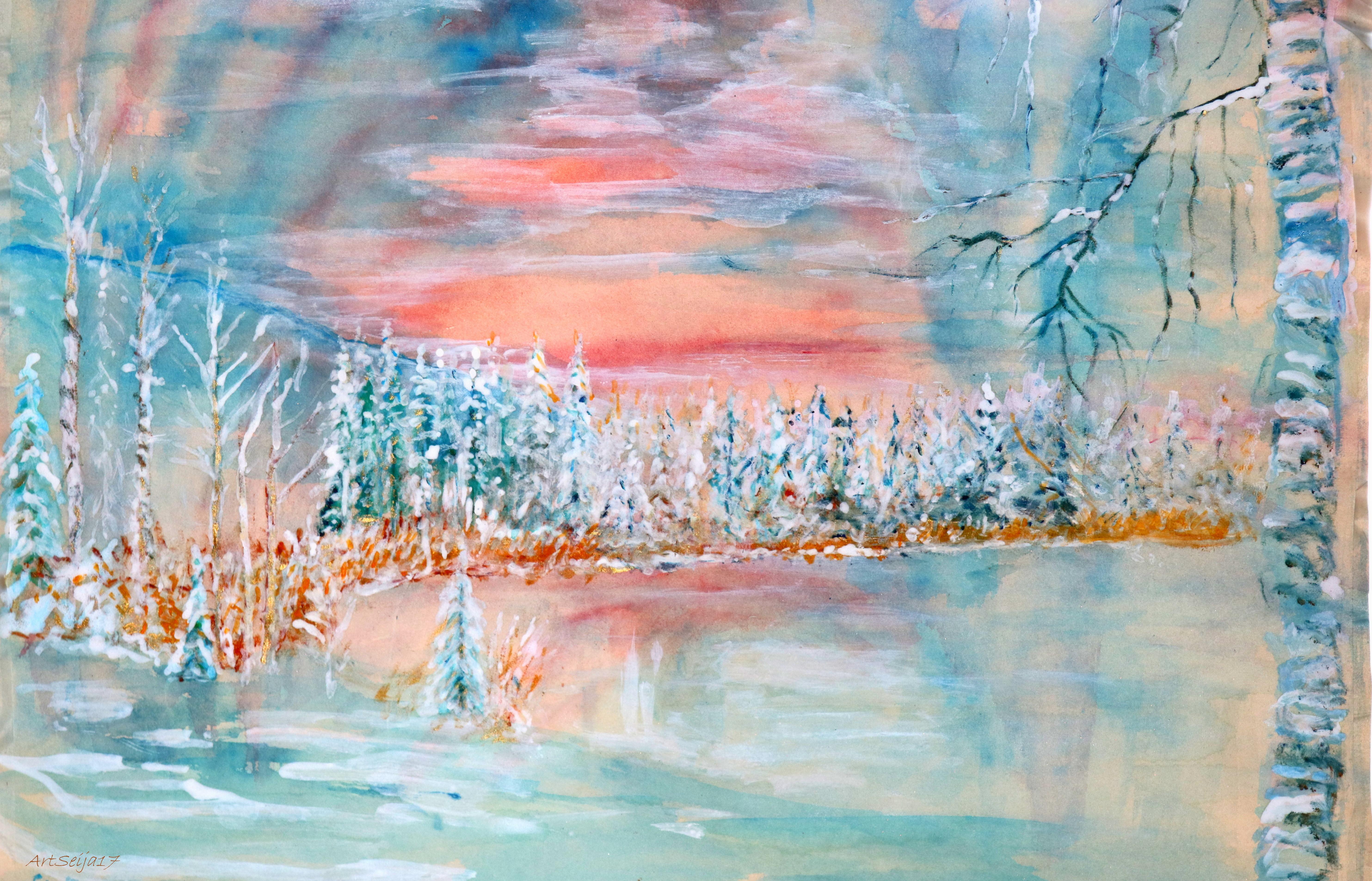 Lahmajärvi, Urjala talvipakkasella