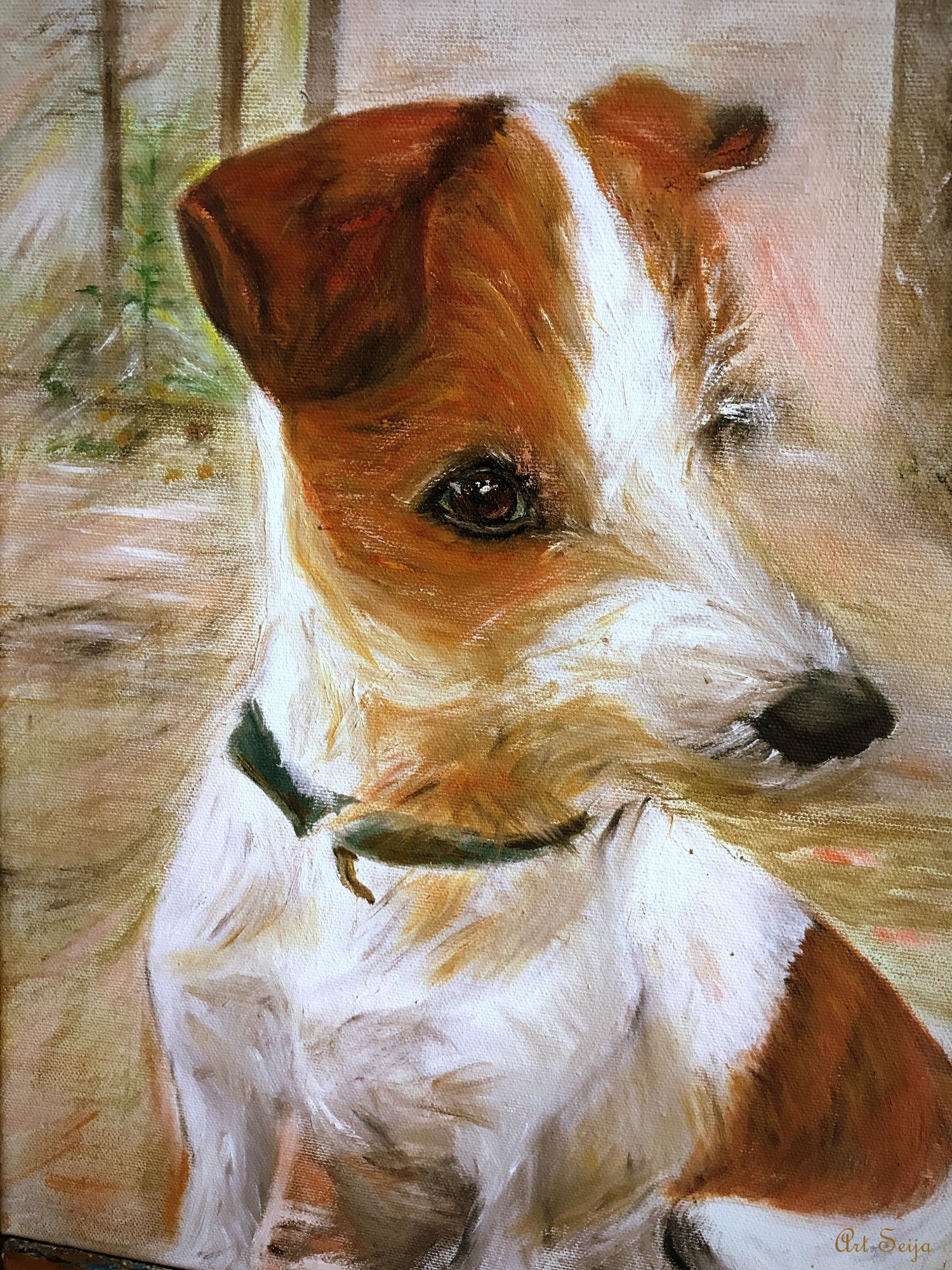 Raku-koira (tilaustyö myyty)