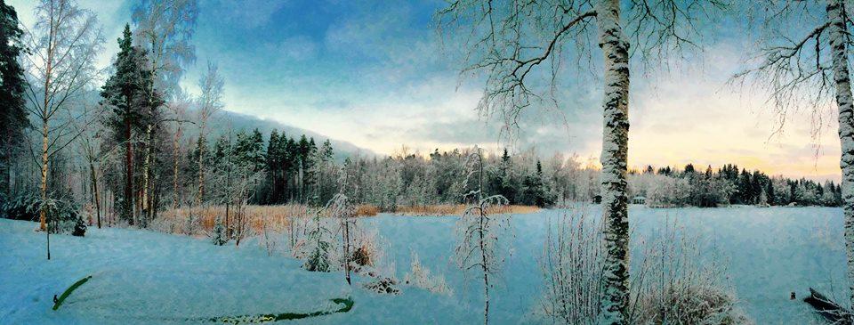 Huikean sinistä talvella: Lahmajärvi, Urjala