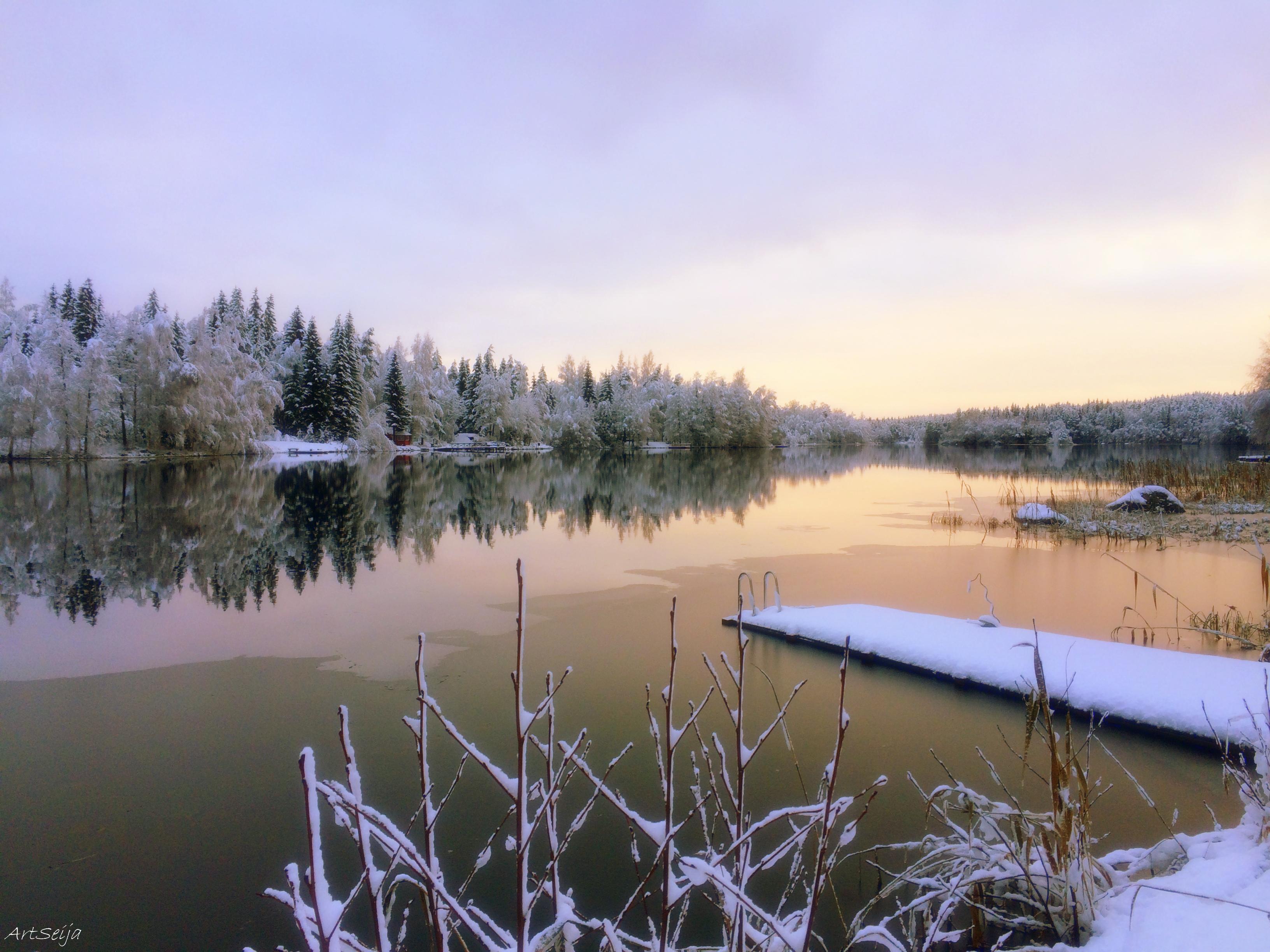 Talvinen laituri: Lahmajärvi, Urjala